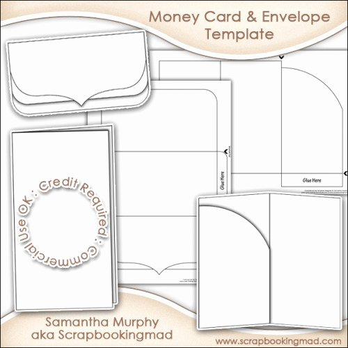 Gift Card Envelope Template Inspirational Money Gift Card & Envelope Template Mercial Use £3 50