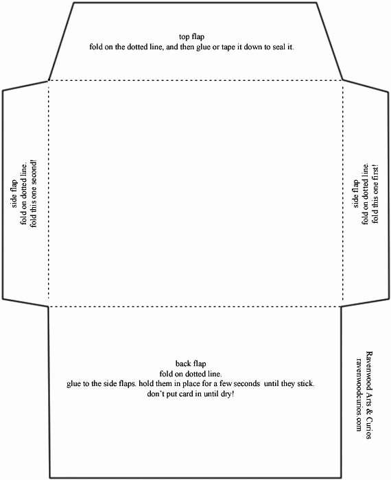 Gift Card Envelope Template New Envelope Template