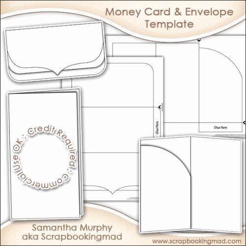 Gift Card Envelope Templates Best Of Money Gift Card & Envelope Template Mercial Use £3 50