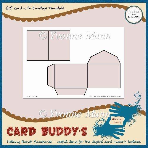 Gift Card Envelope Templates Inspirational Gift Card with Envelope Template – Cu Pu £1 80 Instant