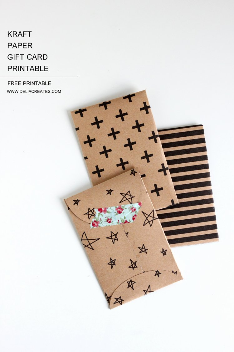Gift Card Envelopes Templates Best Of Kraft Paper Gift Card Envelope – Free Printable