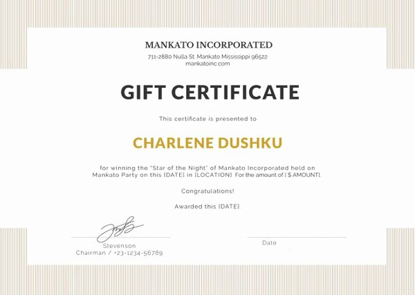 Gift Letter Template Word Elegant Gift Certificate Template Word 8 Free Word Documents