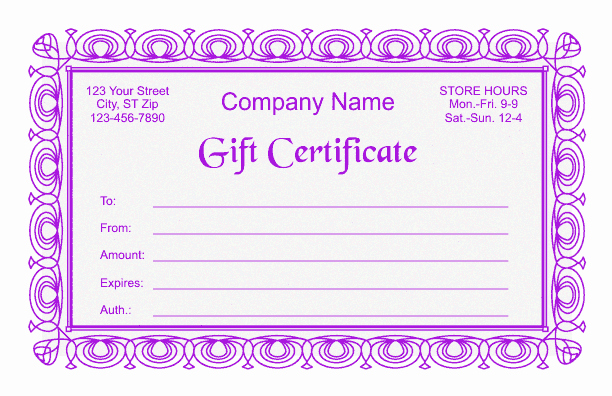 Gift Letter Template Word Fresh Gift Certificate Template 2