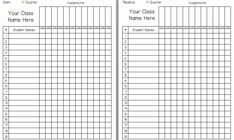Grade Book Template Free Beautiful Printable Gradebook Template