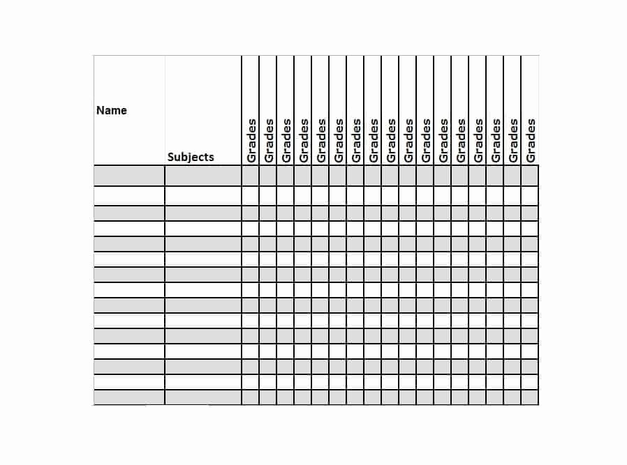 Grade Book Template Free Best Of 30 Free Gradebook Templates Template Archive