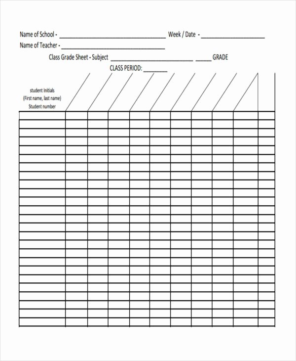 Grade Book Template Free New 11 Grade Sheet Templates Free Sample Example format