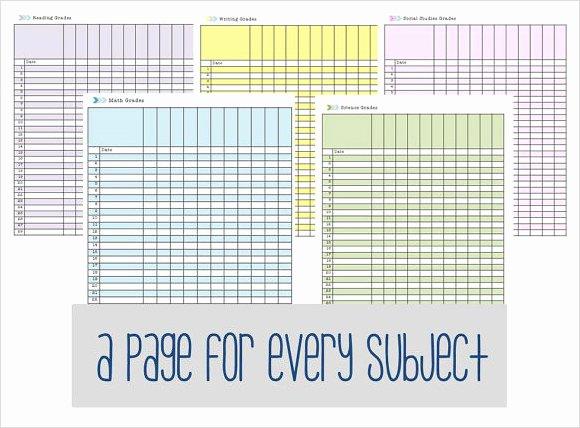 Grade Book Template Free Unique Free 7 Sample Gradebook Templates In Pdf Word Excel