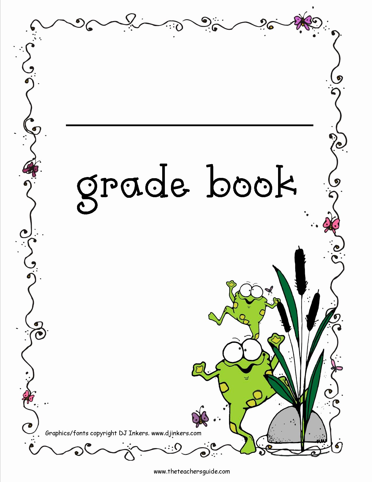Grade Book Template Free Unique Free Printable Grade Books