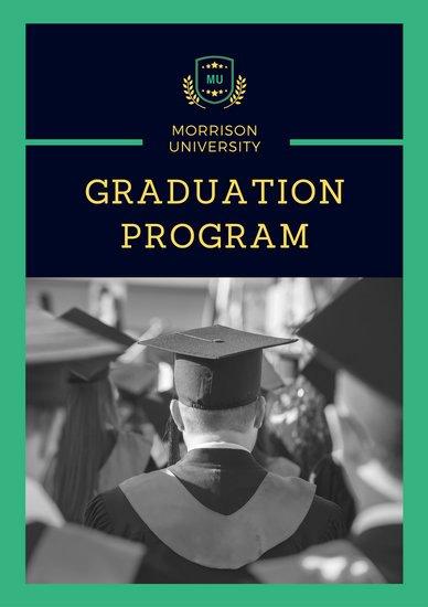 Graduation Ceremony Program Template Beautiful Customize 132 Graduation Program Templates Online Canva
