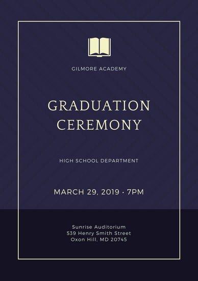 Graduation Ceremony Program Template Best Of Customize 132 Graduation Program Templates Online Canva