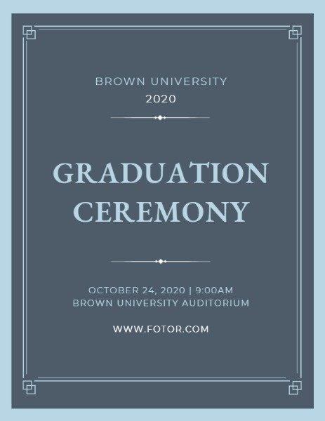 Graduation Ceremony Program Template Elegant Line Graduation Ceremony Program Template