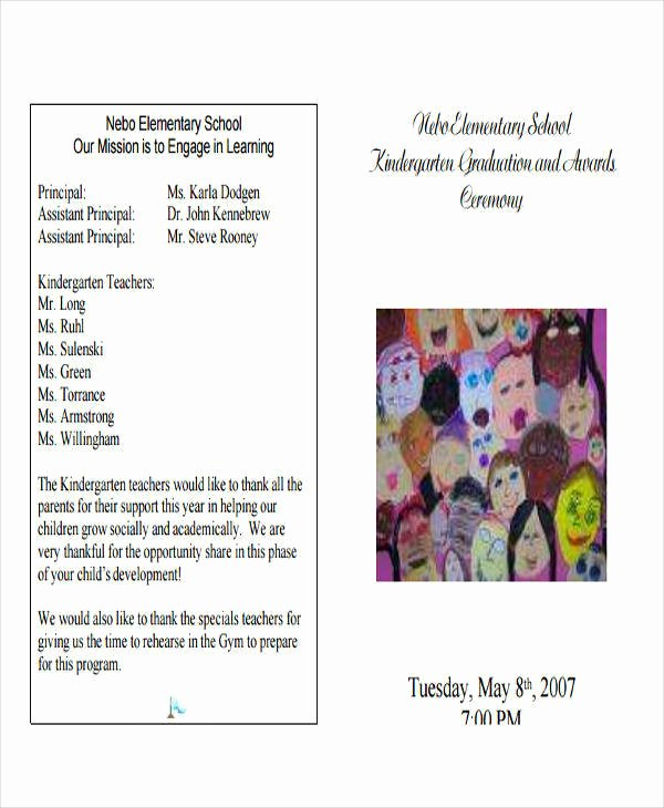 Graduation Ceremony Program Template Fresh 6 Sample Graduation Programs Pdf Word