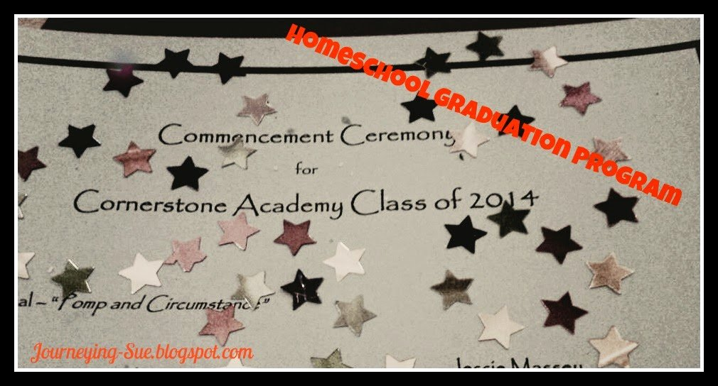 Graduation Ceremony Program Template Fresh Journeying Sue Homeschool Graduation Program Template