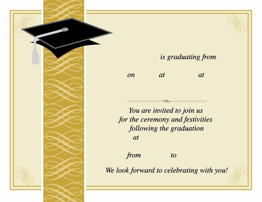 Graduation Ceremony Program Template Inspirational 40 Free Graduation Invitation Templates Template Lab