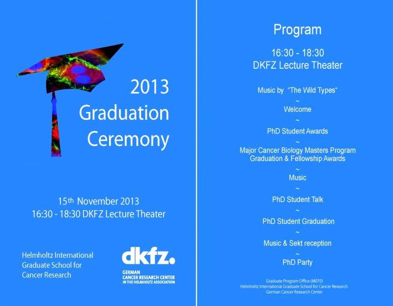 Graduation Ceremony Program Template Inspirational Deutsches Krebsforschungszentrum