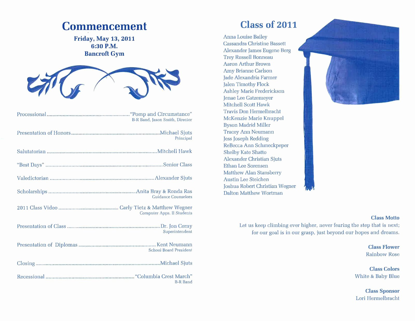 Graduation Ceremony Program Template Lovely Dr Cerny S B R Hype May 2011