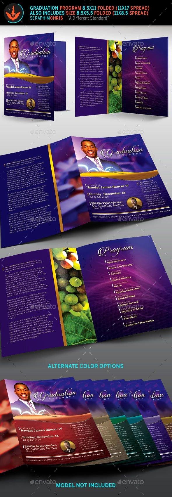 Graduation Ceremony Program Template Lovely Pastor S Graduation Ceremony Program Template