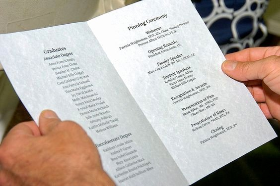 Graduation Ceremony Program Template Luxury Ceremony Programs Nursing and Search On Pinterest