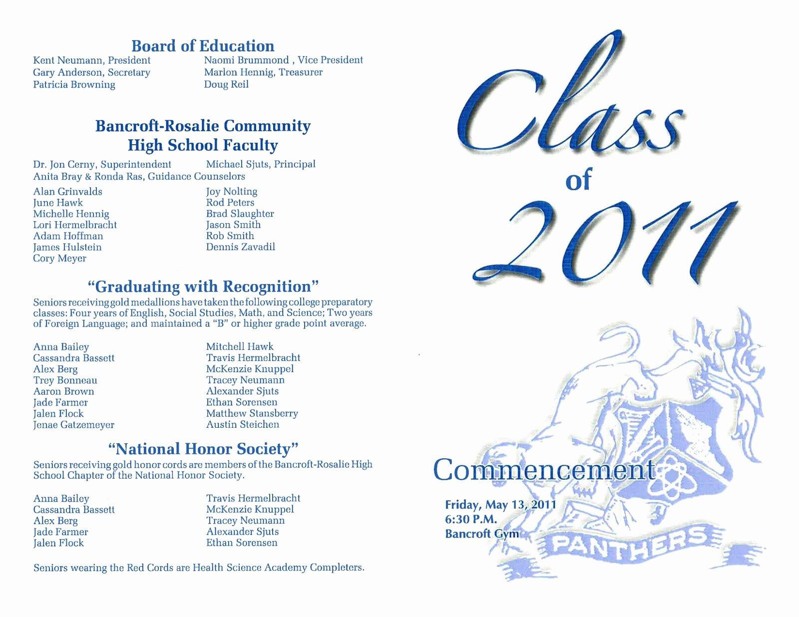 Graduation Ceremony Program Template New Preschool Graduation Ceremony Program Template