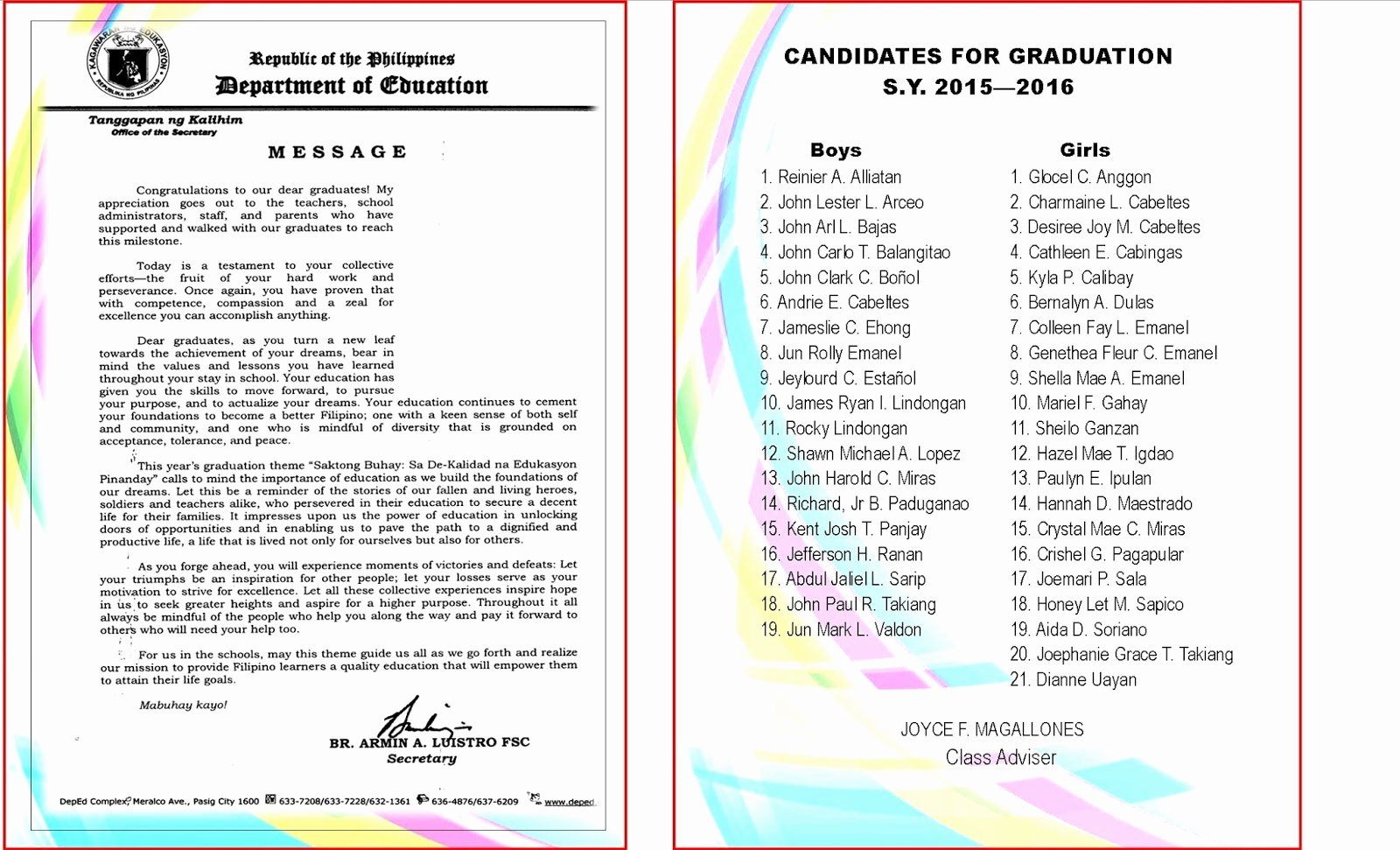 Graduation Ceremony Program Template Unique Sample Kindergarten Graduation Ceremony Program