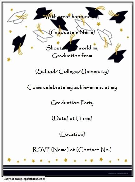 Graduation Invitation Templates Microsoft Word Beautiful Graduation Party Invitation Templates Free Printable