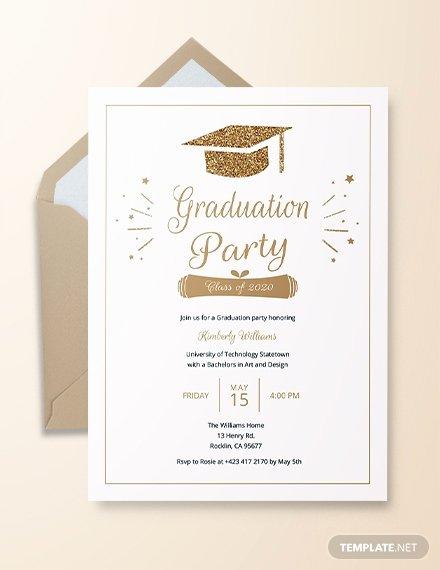 Graduation Invitation Templates Microsoft Word Elegant 22 Graduation Invitation Templates Word Psd Vector