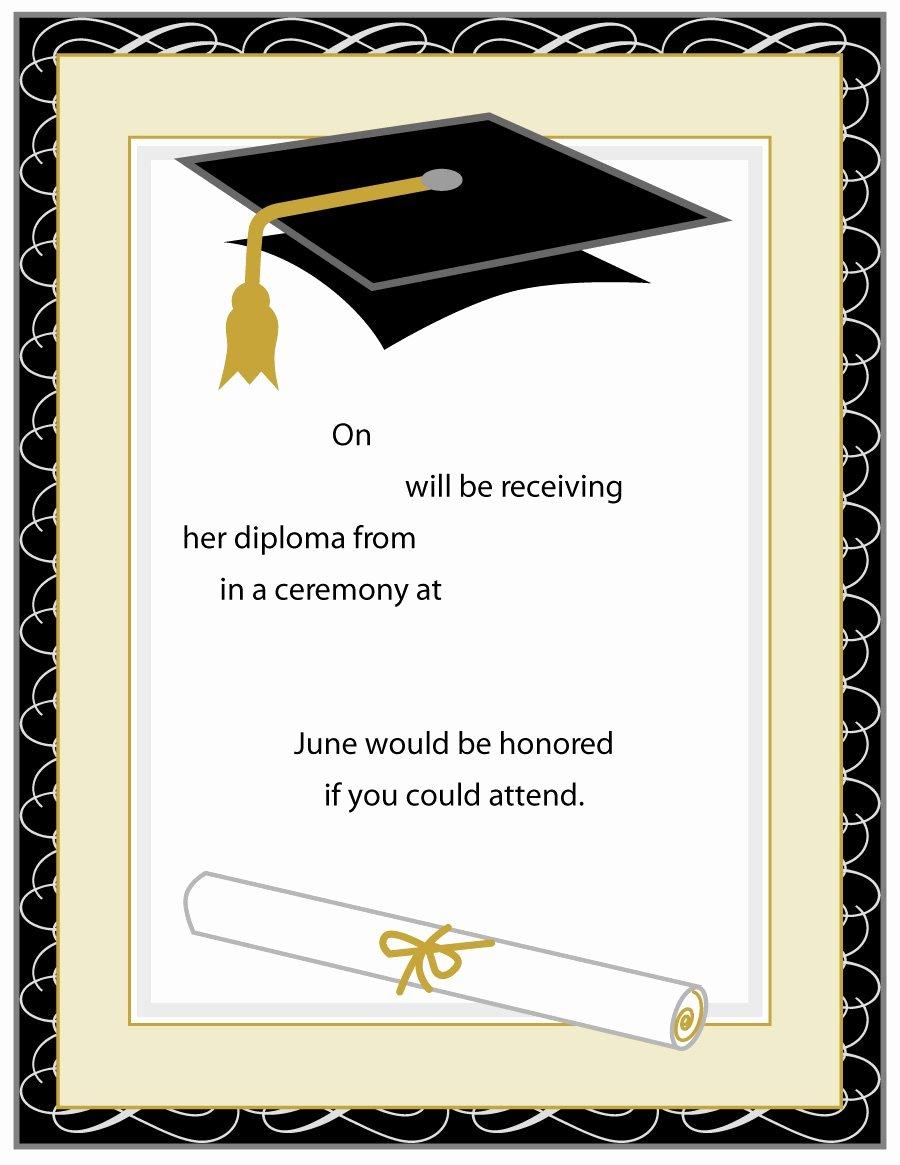 Graduation Invitation Templates Microsoft Word Inspirational 40 Free Graduation Invitation Templates Template Lab