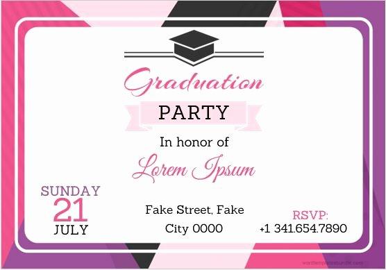 Graduation Invitation Templates Microsoft Word Lovely 10 Best Graduation Party Invitation Card Templates Ms Word