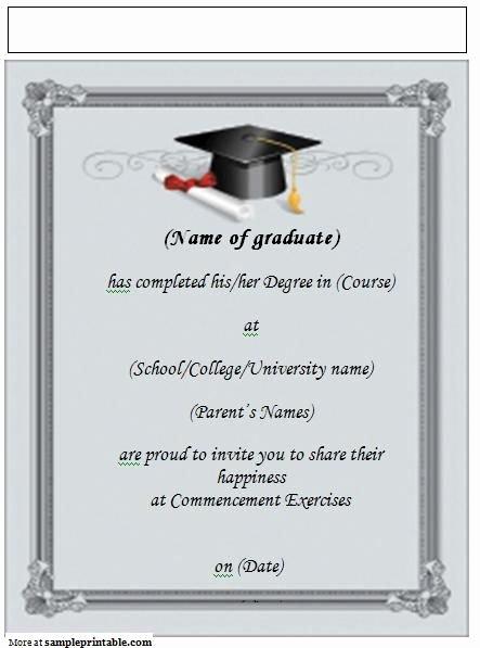 Graduation Invitation Templates Microsoft Word Lovely 22 Best Grad Announcements Images On Pinterest
