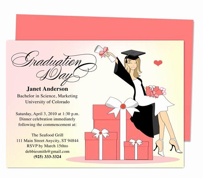 Graduation Invitation Templates Microsoft Word Luxury Best 46 Printable Diy Graduation Announcements Templates