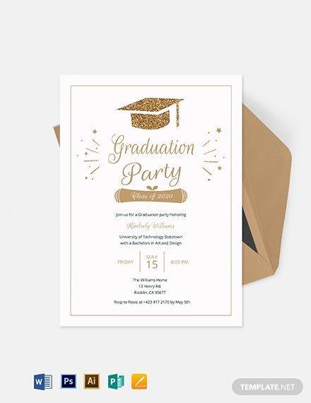Graduation Invitation Templates Microsoft Word Luxury Graduation Invitation Template Download 227 Invitations