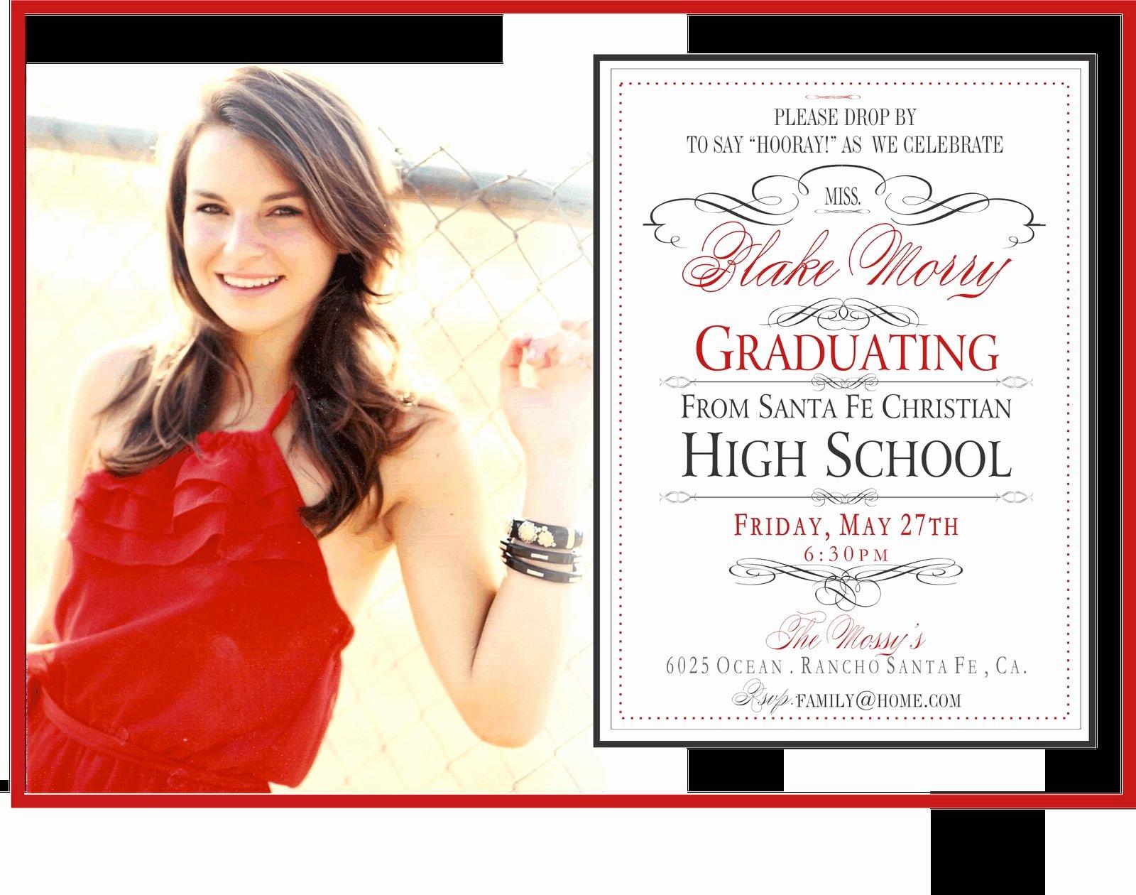 Graduation Invitation Templates Microsoft Word Luxury Graduation Party Invitation Template Graduation Party