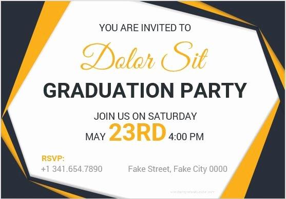 Graduation Invitation Templates Microsoft Word Unique 10 Best Graduation Party Invitation Card Templates Ms Word