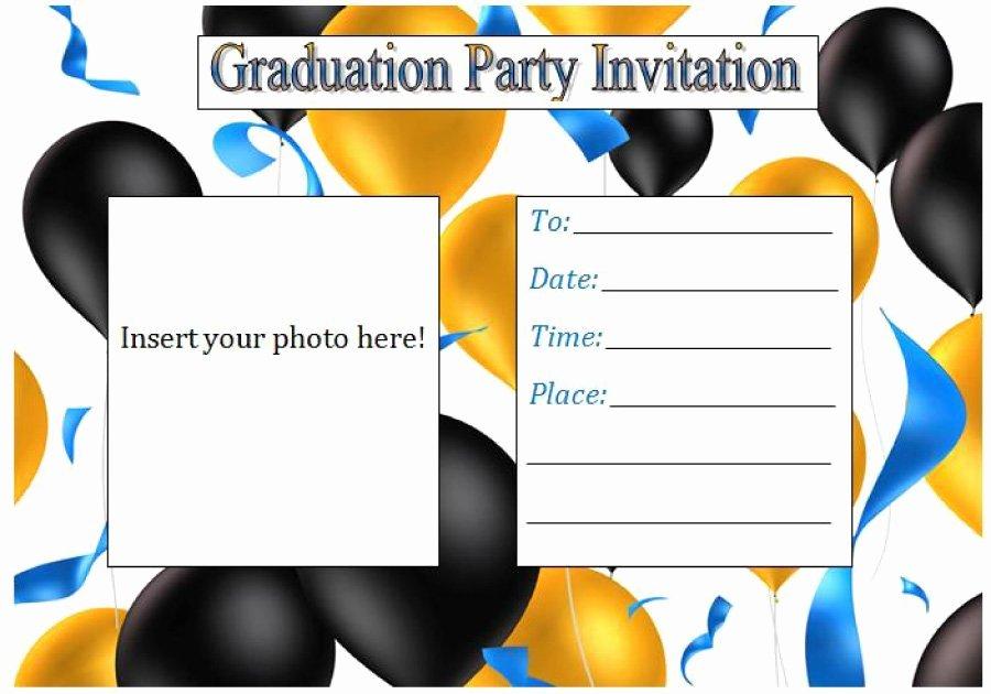 Graduation Invitation Templates Microsoft Word Unique 40 Free Graduation Invitation Templates Template Lab
