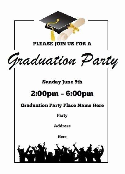 Graduation Invitation Templates Microsoft Word Unique Free Graduation Invitation Templates for Word 2018