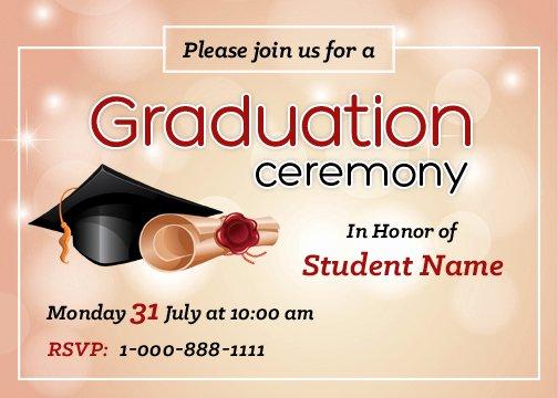Graduation Invitation Templates Microsoft Word Unique Graduation Party Invitation Cards for Ms Word