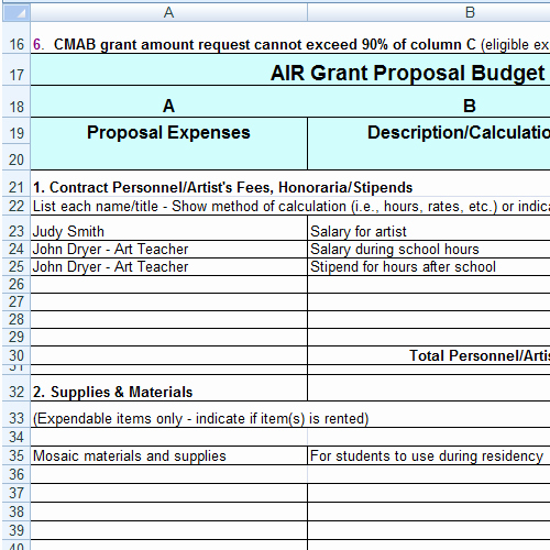 Grant Proposal Budget Template Awesome Grant Proposal Bud Template Research Paper Me