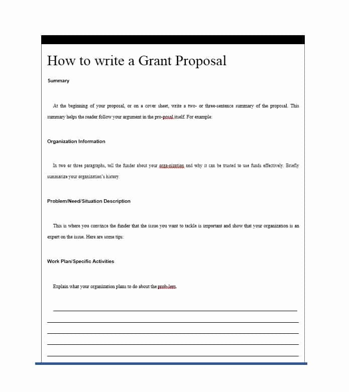 Grant Proposal Template Word Awesome 40 Grant Proposal Templates [nsf Non Profit Research]