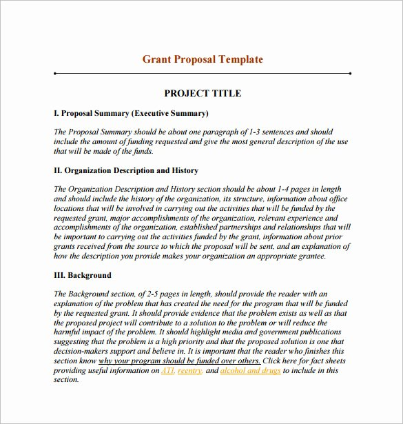 Grant Proposal Template Word Best Of 17 Funding Proposal Templates Word Pdf Pages