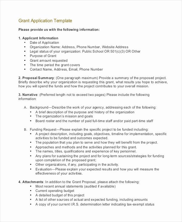 Grant Proposal Template Word Best Of Grant Application Templates 6 Free Word Pdf Download