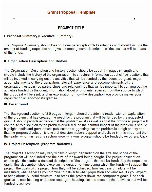 Grant Proposal Template Word Best Of Grant Proposal Template 9 Download Free Documents In