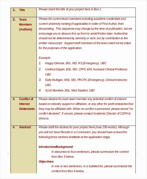 Grant Proposal Template Word Elegant 18 Simple Grant Proposal Templates Word Pdf Pages