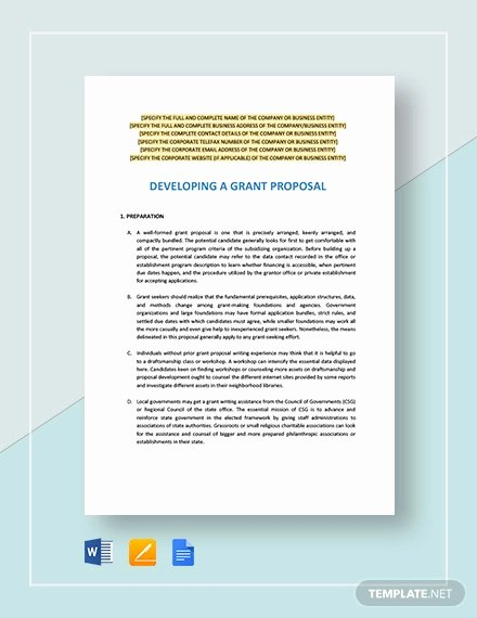 Grant Proposal Template Word Elegant 38 Grant Proposal Templates Doc Pdf Pages