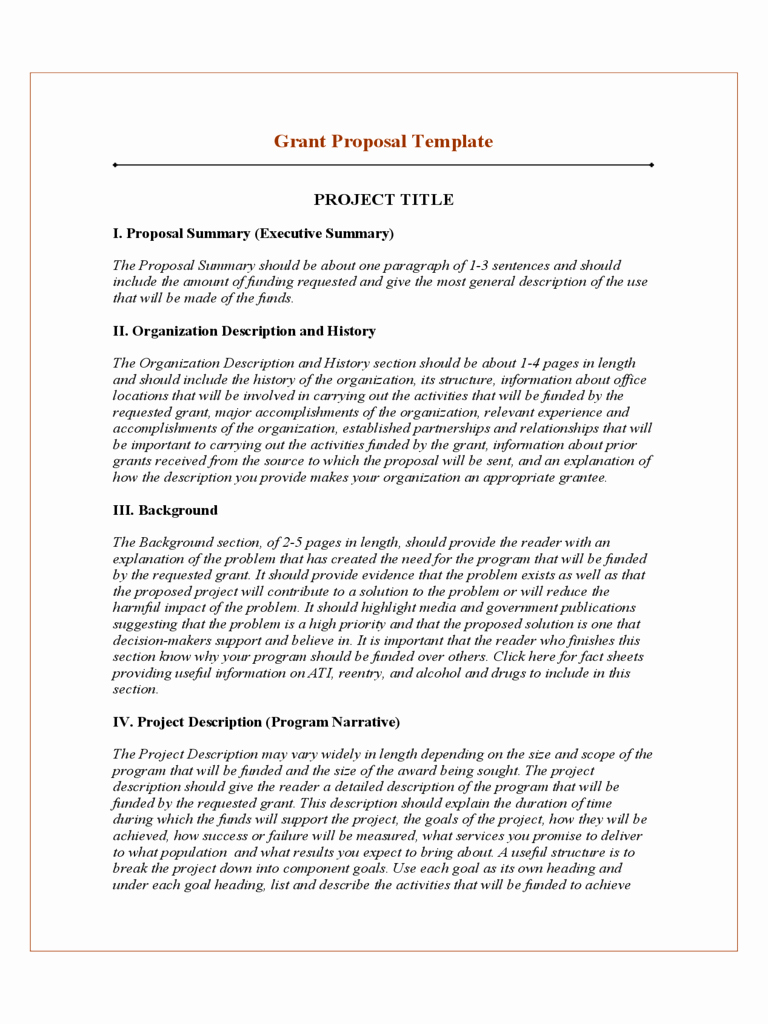 Grant Proposal Template Word Lovely 2019 Project Proposal Template Fillable Printable Pdf