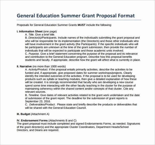 Grant Proposal Template Word Lovely Grant Proposal Template 9 Download Free Documents In