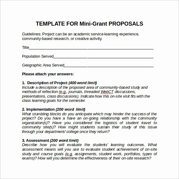 Grant Proposal Template Word New 11 Sample Grant Proposals Word Pdf Pages