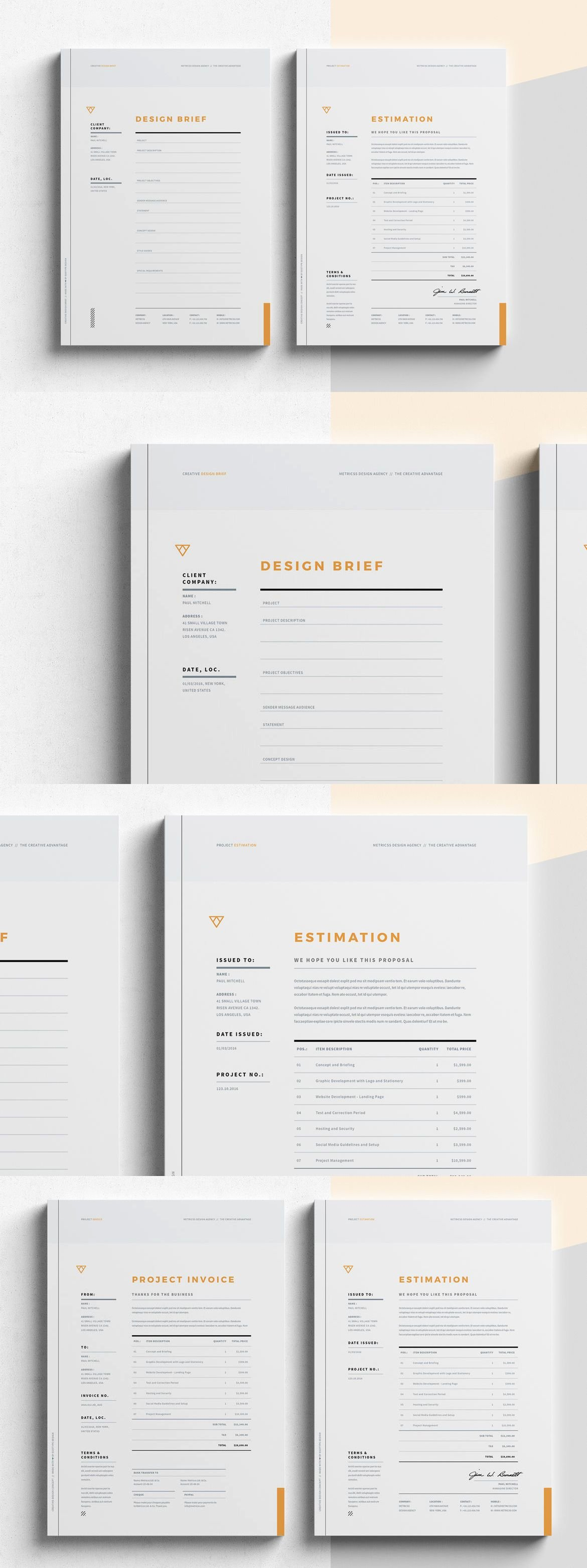Graphic Design Estimate Template Lovely Brief Estimation Invoice Templates Indesign Indd