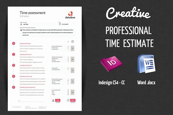 Graphic Design Estimate Template Lovely Professional Time Estimate Stationery Templates On
