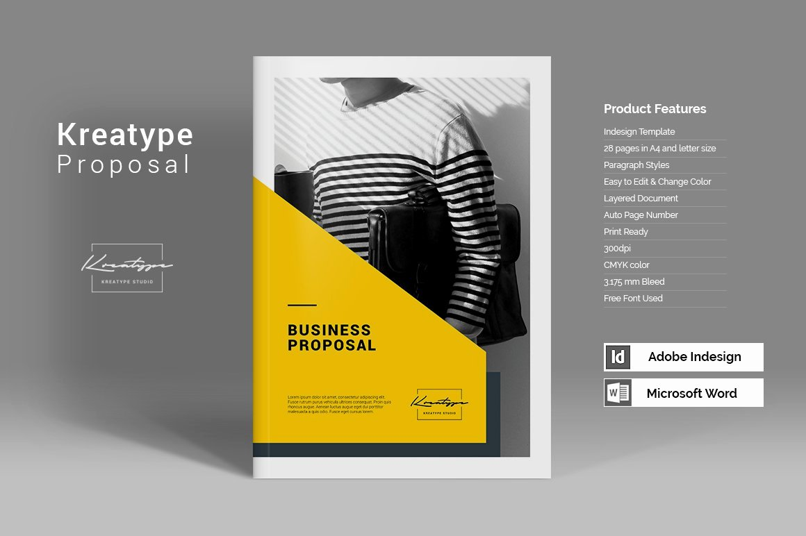 Graphic Design Proposal Template Elegant Kreatype Proposal Brochure Templates Creative Market