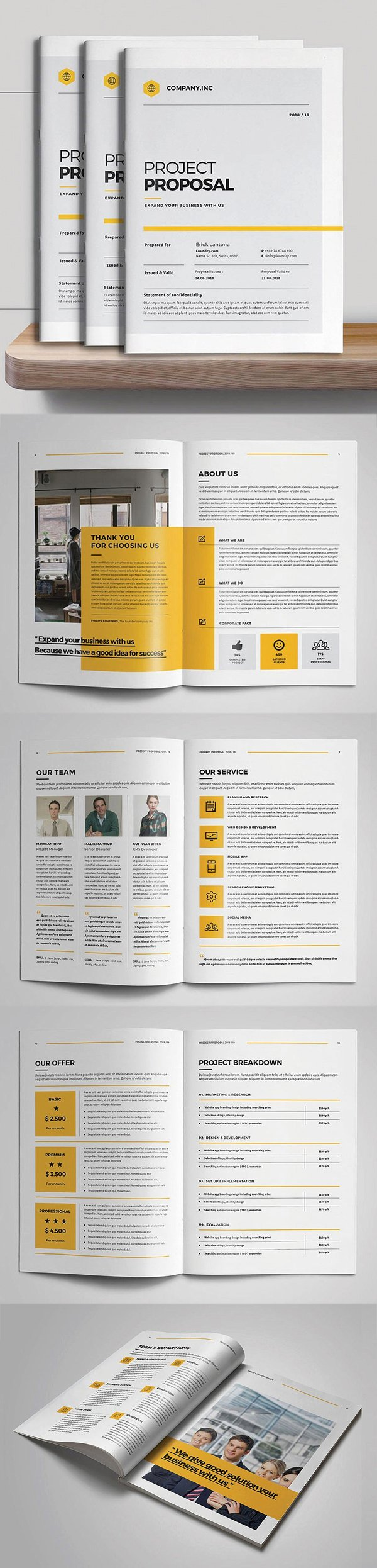 Graphic Design Proposal Template Inspirational Business Proposal Brochure Templates Design